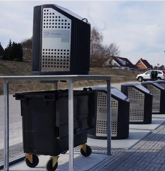 Waste-pit - en underjordisk lift til affaldsbeholdere