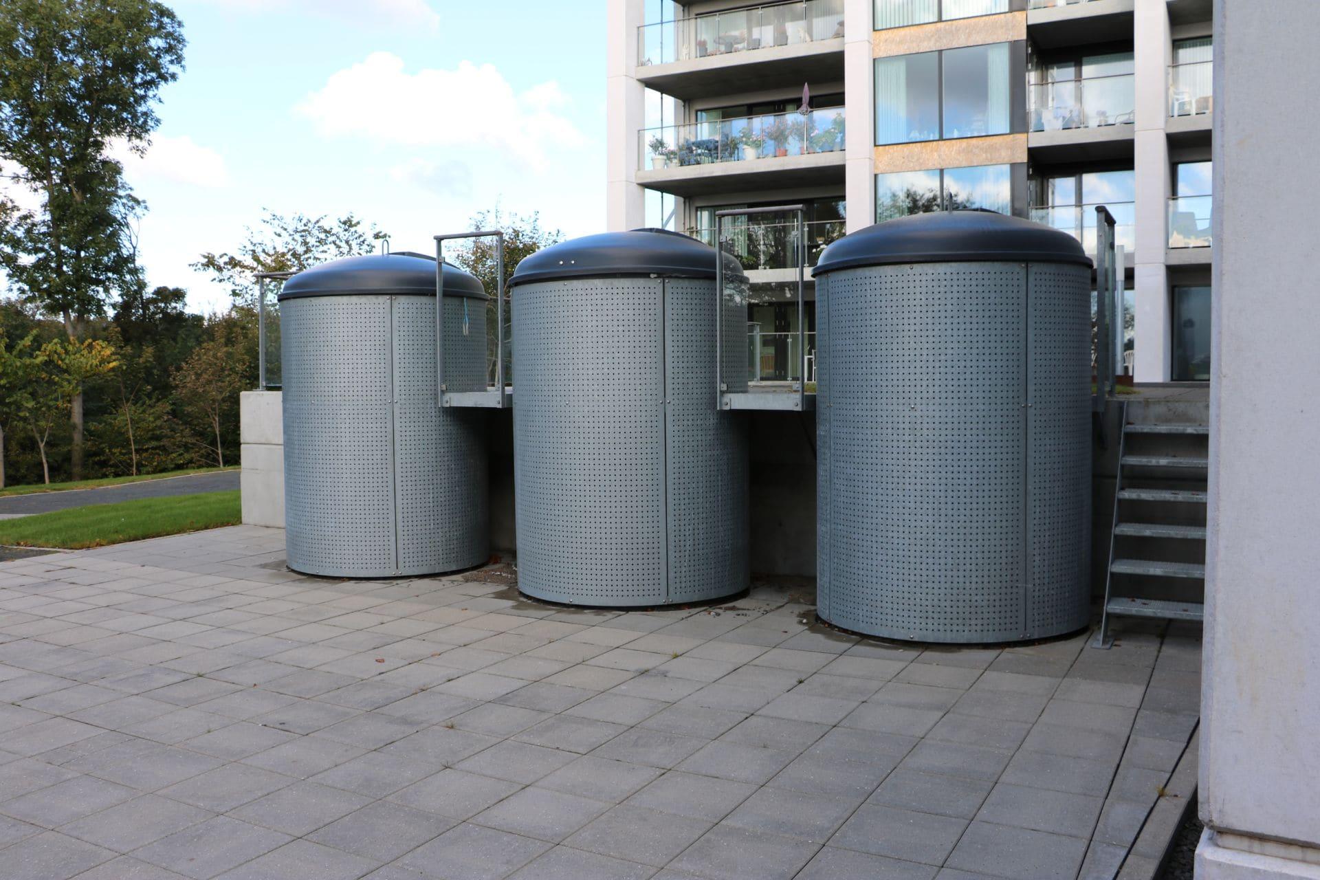 Specialløsning med overjordisk Molok®Classic beklædt med galvaniseret stål, Hjørring