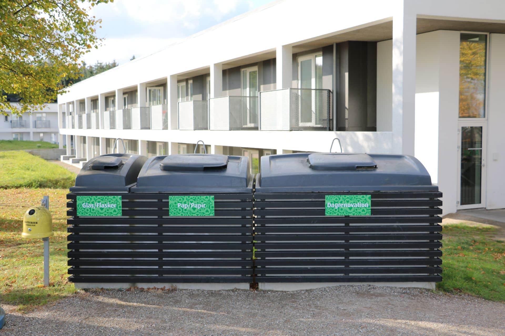 Molok®Domino beklædt med special træbeklædning, Idrætsbyen Aalborg