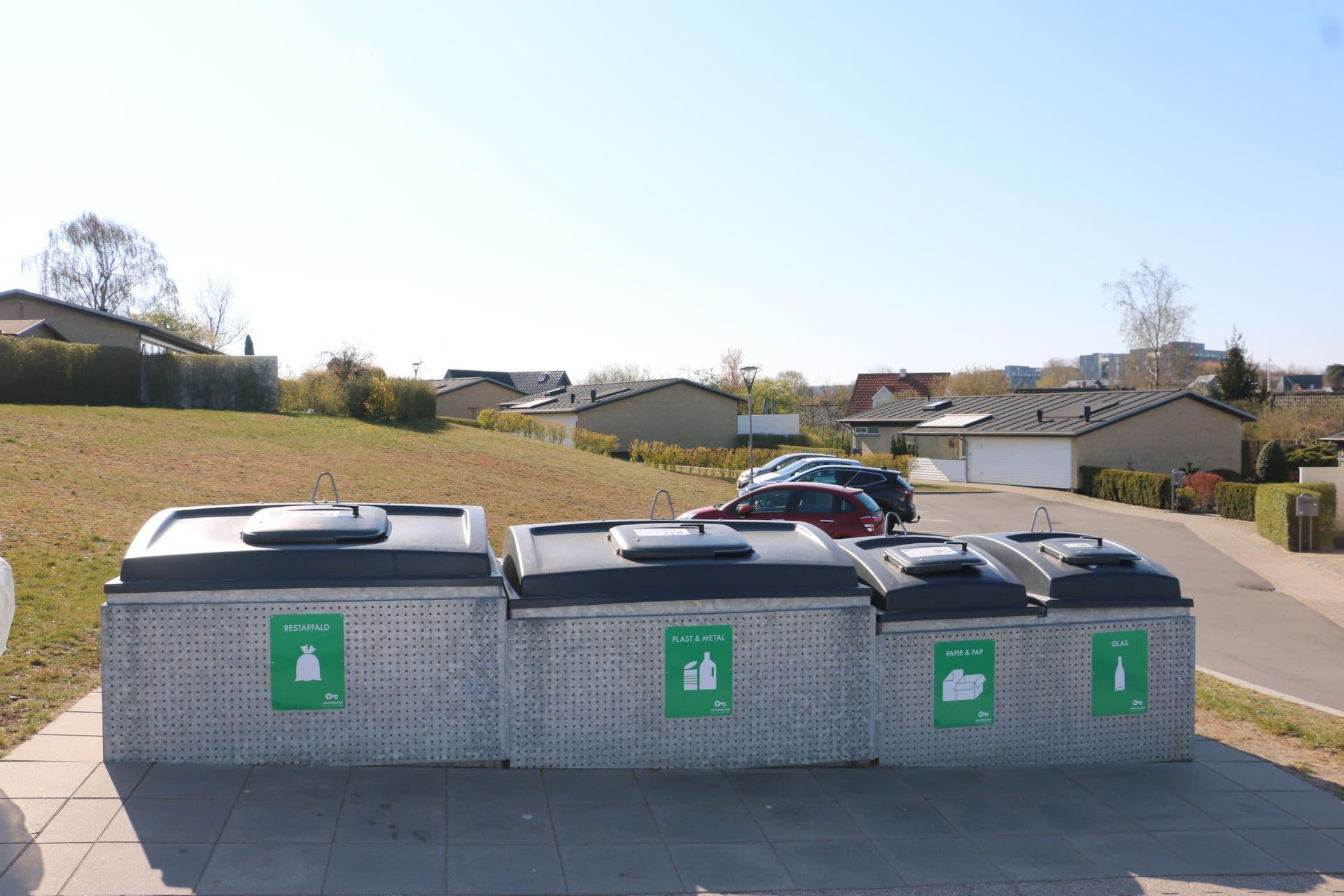 Molok®Domino beklædt med perforeret galvaniseret stål, Aalborg